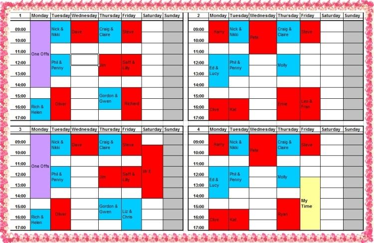 schedule - 09.17